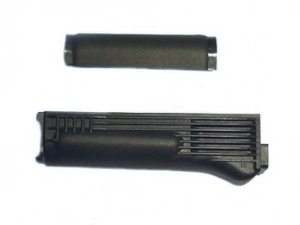 Handguard Set for Milled Receiver with Stainless Steel Heat Shield, Black Polymer, Arsenal