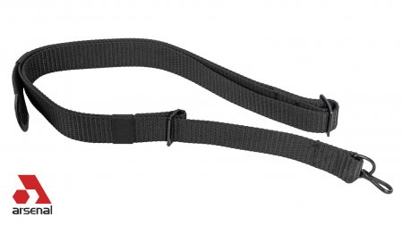 Nylon Black Sling with Single Point Attachment for AK47, AK74 and AKM Rifles