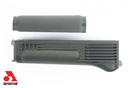 OD Green Polymer Handguard Set with Stainless Steel Heat Shield  for Milled Receivers