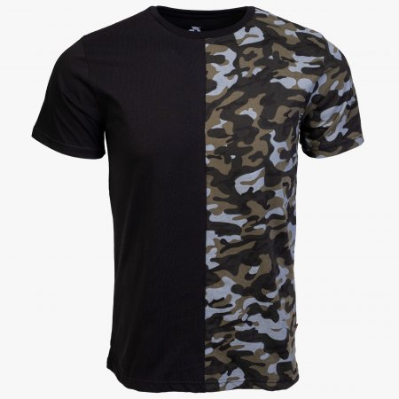 Black / Camo Cotton Relaxed Fit Logo T-Shirt