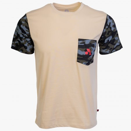 Beige / Camo Cotton Expedition T-Shirt