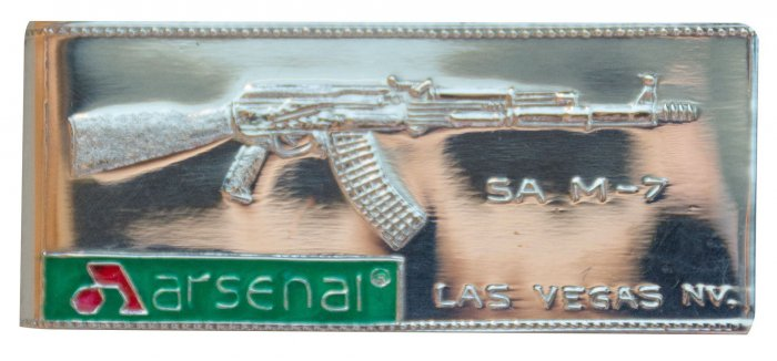 .925 Pure Silver Money Clip with Arsenal Logo