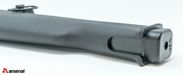 AK47 Black Polymer Buttstock with Cleaning Kit Compartment for Milled Receivers